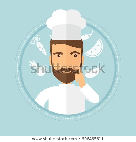 Chief cooker having idea vector illustration. Stock photo © RAStudio