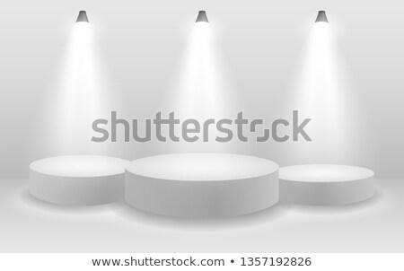 白 1 スポットライト スタジオ ベクトル 壁 ストックフォト © tuulijumala