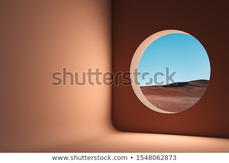 A closed window at the desert Stock photo © bluering