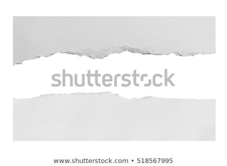Yırtık kağıt parçalar gri uzay metin doku Stok fotoğraf © creatOR76