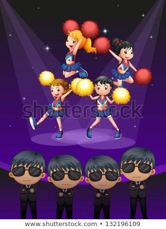 kızlar · bale · performans · küçük · kız · çocuklar · dans - stok fotoğraf © bluering