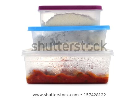 Leftover food and plastic bag Stock photo © bluering