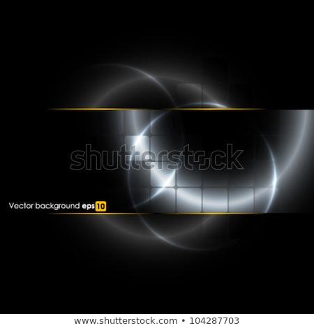 черный серебро круга металлический вектора дизайна Сток-фото © saicle