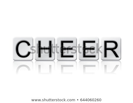 Joy Isolated Tiled Letters Concept and Theme Stock photo © enterlinedesign