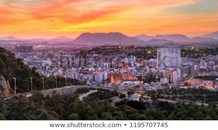noc · panorama · miasta · zamek · Święty · mikołaj · niebo - zdjęcia stock © sebikus