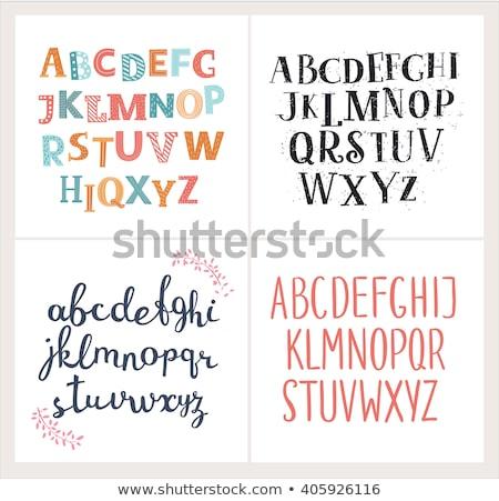 İngilizce alfabe dizayn dört renkler Stok fotoğraf © bluering