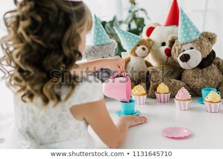 Bear with tea Stock photo © zsooofija