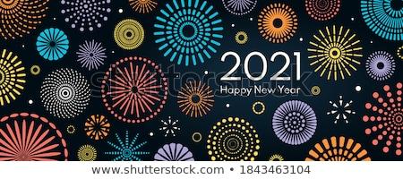 Happy new year dizayn karanlık stil mutlu arka plan Stok fotoğraf © SArts