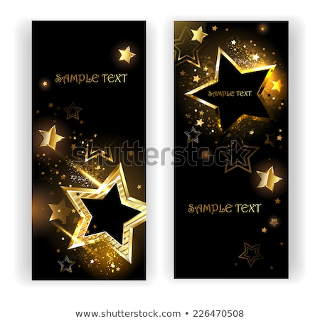 Two banners with black stars Stock photo © blackmoon979