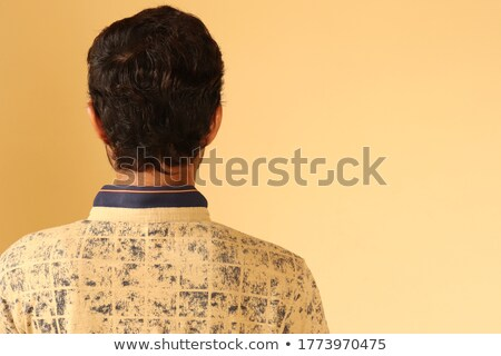 Back of man in brown shorts Stock photo © bluering
