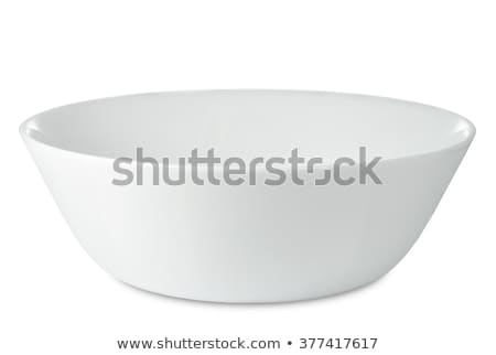 глубокий столовой чаши коричневый за пределами белый Сток-фото © Digifoodstock