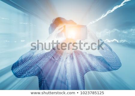 szczęśliwy · brodaty · człowiek · faktyczny · rzeczywistość - zdjęcia stock © deandrobot