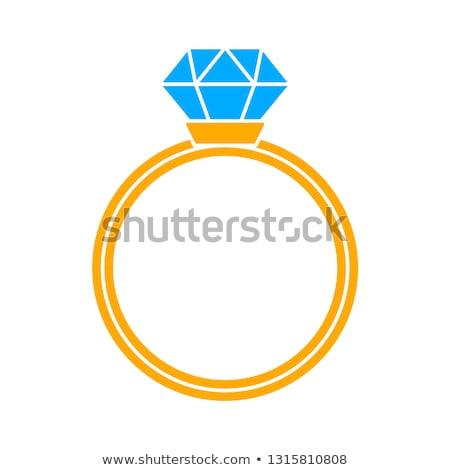 Stock photo: Diamond Ring wedding gift isolated