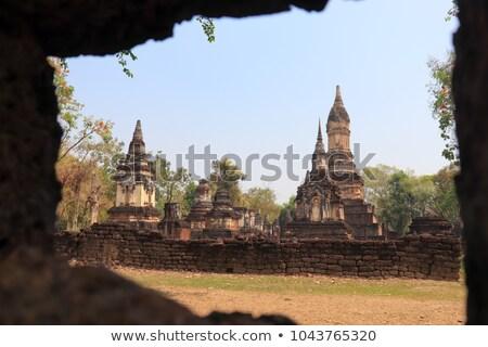 Famous Si Satchanalai historical park Stock photo © joyr