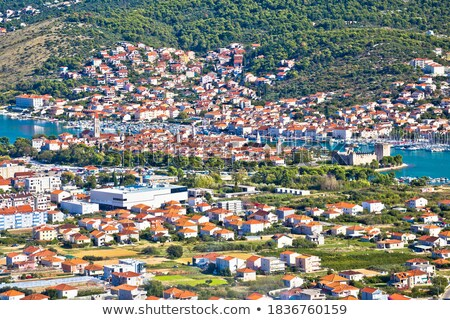 panoramic view of trogir from above stock photo © xbrchx