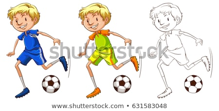 Drafting character for soccer player Stock photo © bluering