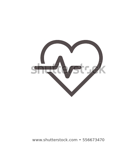 Nabız kalp soyut grafik tıbbi Stok fotoğraf © alexaldo