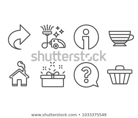 menselijke · hoofd · vraagteken · illustratie · iconen · mensen - stockfoto © rastudio