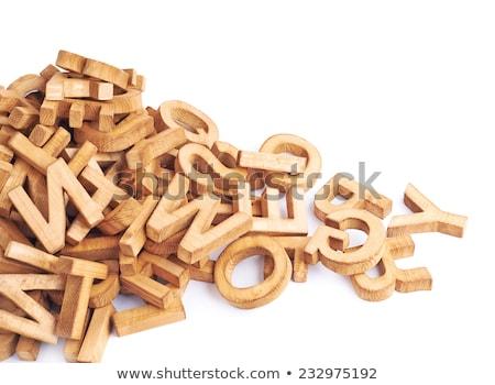 Legno lettere alfabetizzazione istruzione abstract Foto d'archivio © stevanovicigor
