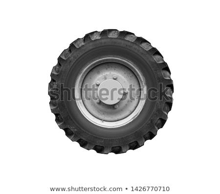 ciągnika · opon · odizolowany · biały · przemysłu · czarny - zdjęcia stock © stevanovicigor