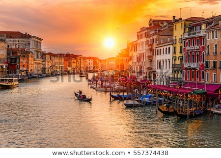 Colorful architecture of Venezia Canal Grande Stock photo © xbrchx