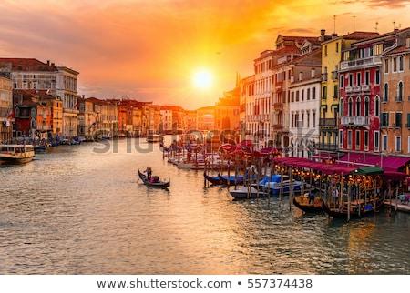 colorful architecture of venezia canal grande stock photo © xbrchx