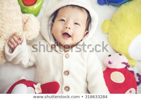 Baby Puppe glückliches Gesicht Illustration Mädchen glücklich Stock foto © bluering
