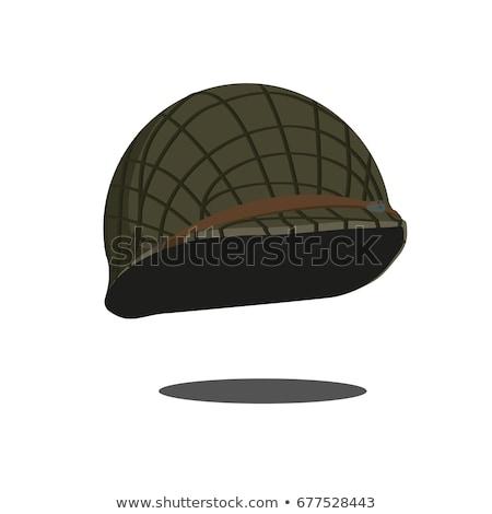 Militar capacete isolado soldados boné exército Foto stock © MaryValery