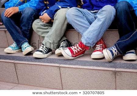 синий дети обувь пару Сток-фото © ElaK