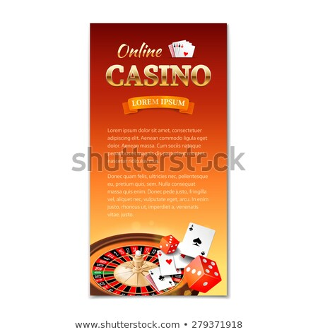 vector illustration on a casino theme with dices and ribbon eps stock photo © articular