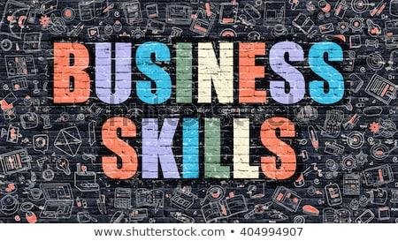 Negócio habilidades rabisco projeto branco Foto stock © tashatuvango