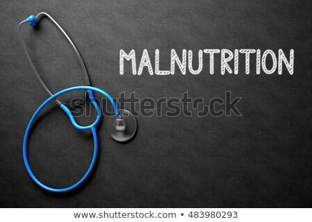 Tábla 3d illusztráció orvosi fekete kézzel írott felső Stock fotó © tashatuvango