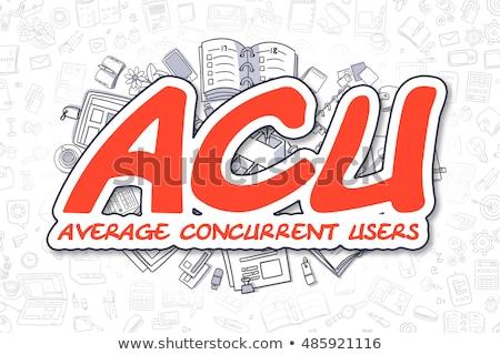 ACU - Doodle Red Inscription. Business Concept. Stock photo © tashatuvango