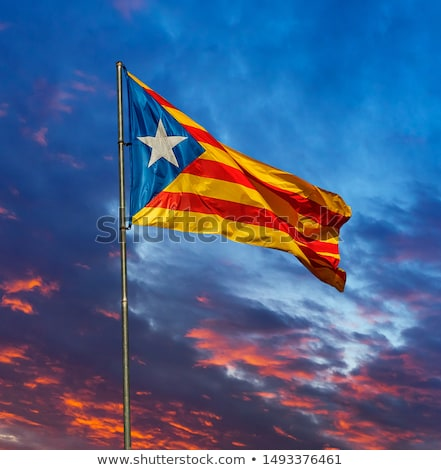 catalan pro independence flag and spanish flag stock photo © nito