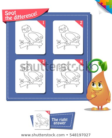ストックフォト: スポット · 違い · フクロウ · 行 · 回路 · ゲーム