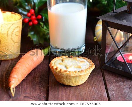 Santa milk and mince pie Stock photo © RTimages