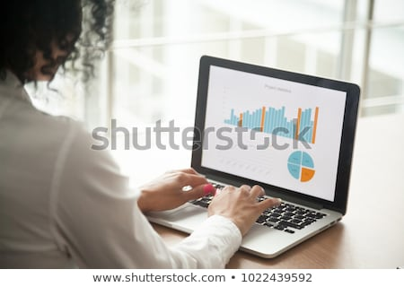 Achieving Project Goals - on Laptop Screen. Closeup. Stock photo © tashatuvango