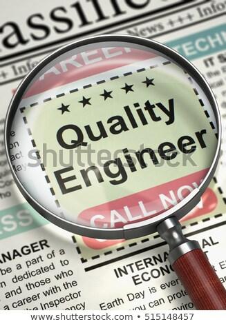 We are Hiring Quality Engineer. 3D. Stock photo © tashatuvango