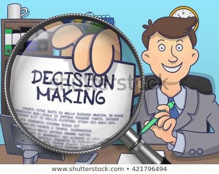Decision Making through Magnifier. Doodle Concept. Stock photo © tashatuvango