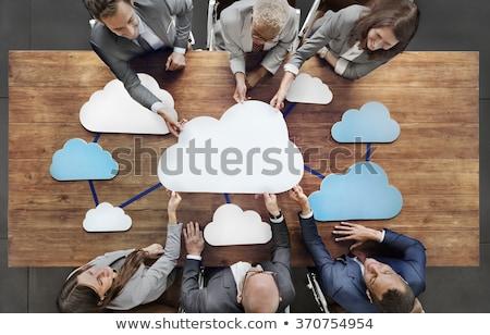 Felhő alapú technológia adat szerver szolgáltatások technológia piros Stock fotó © Lightsource
