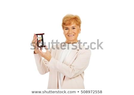 Donna clessidra persona colore concetto Foto d'archivio © monkey_business