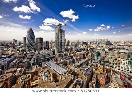 financial · district · Londra · şehir · panorama · su - stok fotoğraf © andreypopov