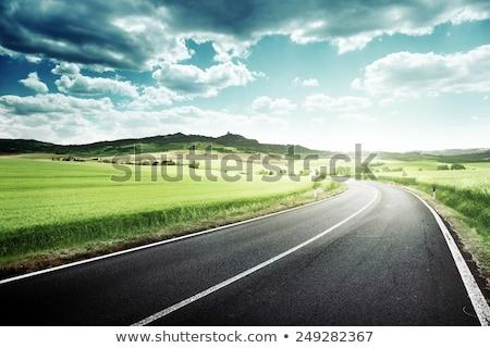 Tepeler Kaliforniya sahil yol doğa Stok fotoğraf © stockfrank