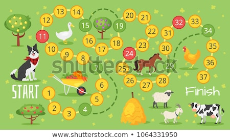 board template with white sheep stock photo © bluering