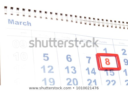 8 march 2018 international womens day red heart symbol love calendar reminder stock photo © orensila