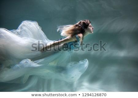 Portré lány vízalatti jókedv szabadság tinédzser Stock fotó © IS2
