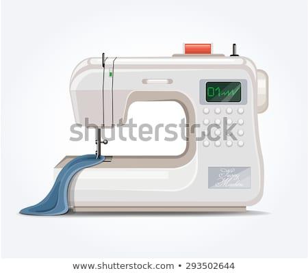 современных · швейные · машины · изолированный · вектора · икона · швейных - Сток-фото © studioworkstock