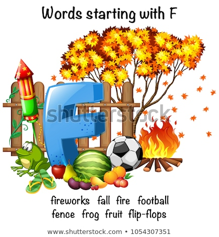 educational poster design for words starting with f stock photo © bluering