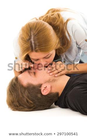 Paramédicaux bouche homme médicaux communication Photo stock © wavebreak_media