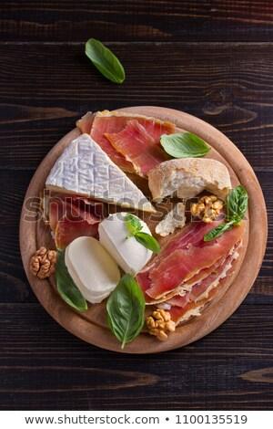 ブルーチーズ ハム 木製のテーブル 食品 ケータリング 食べ ストックフォト © dolgachov